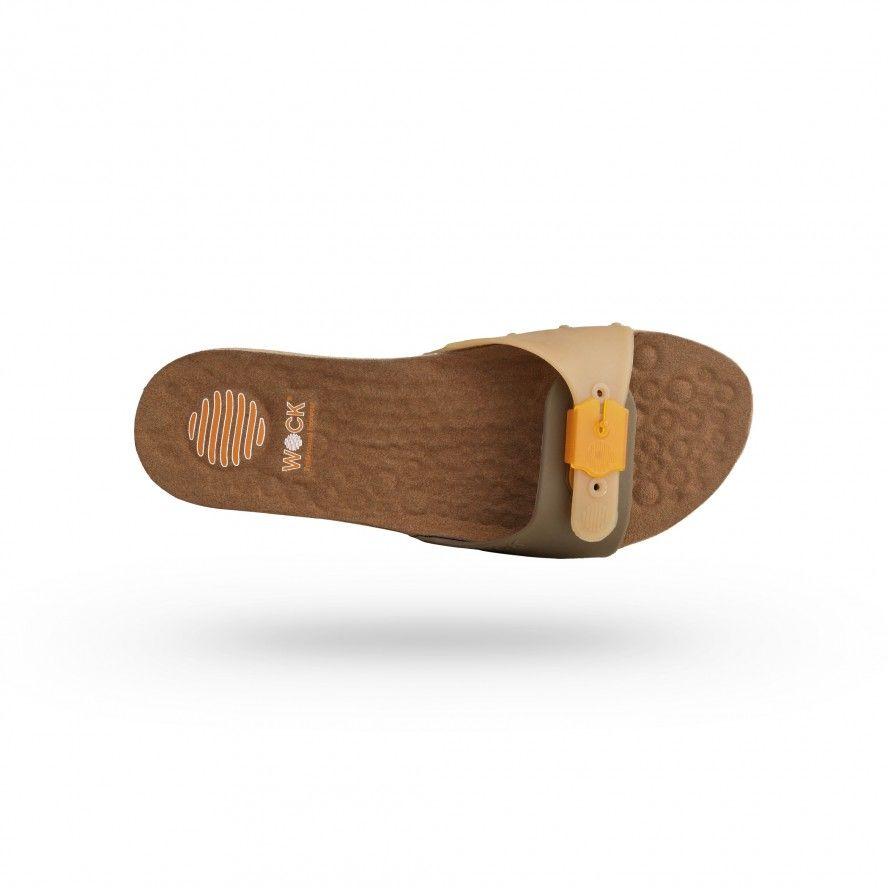 WOCK Brown Work Sandals for Beauty & Cosmetic SANUS 05