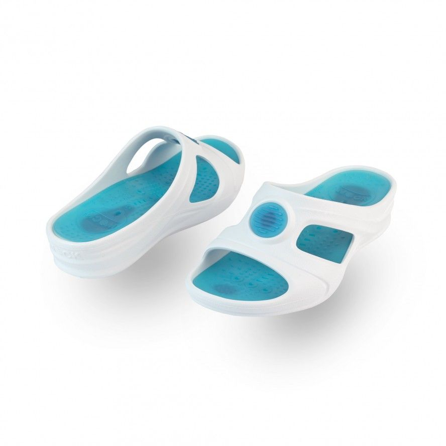 WOCK Blue Work Sandals for Beauty & Cosmetic SENSES AQUA 04