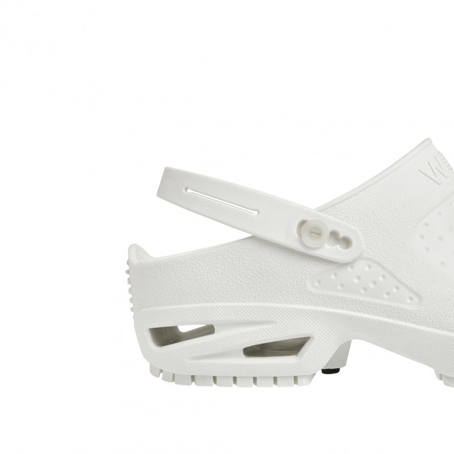 WOCK  CLOG/BLOC White Strap for greater comfort and safety