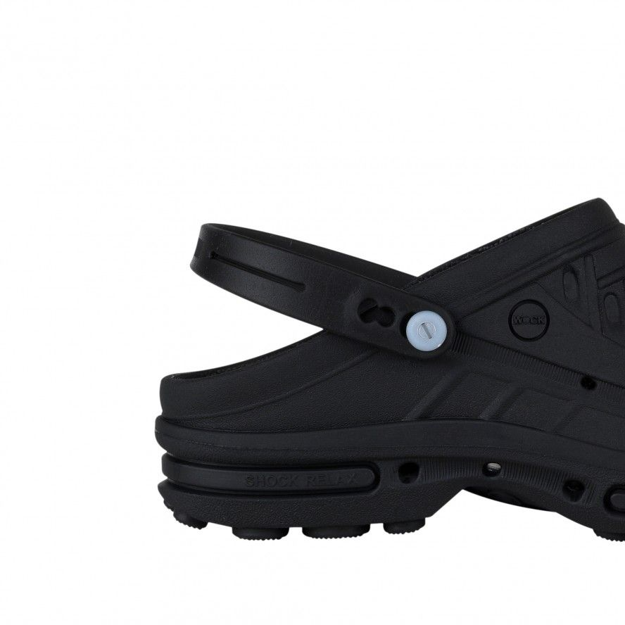 WOCK  CLOG/BLOC Black Strap for greater comfort and safety