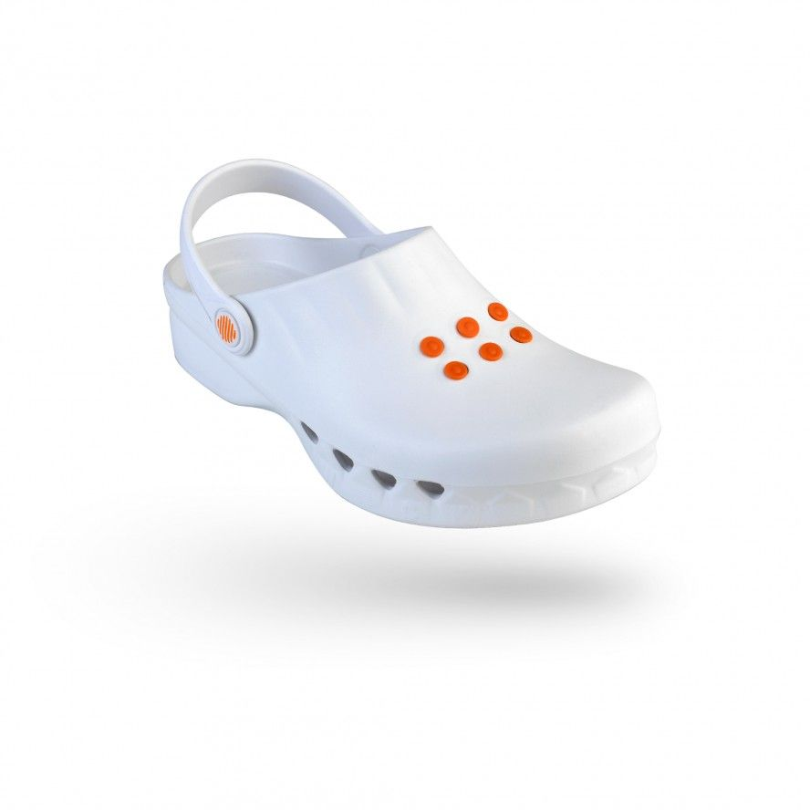 WOCK White Non Slip Chef/Work Clogs NUBE 04
