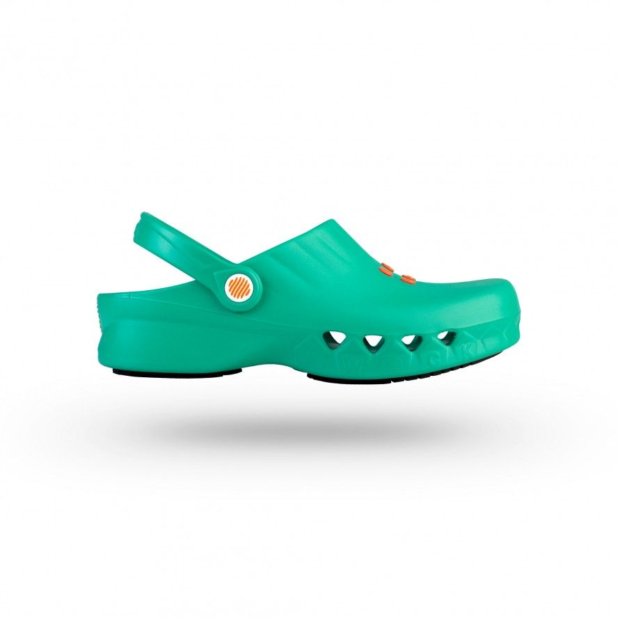WOCK Green Non Slip Chef/Work Clogs NUBE 05