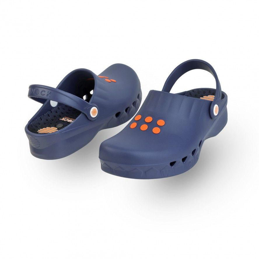 WOCK Navy Blue Non Slip Chef/Work Clogs NUBE 01 w/ Insole