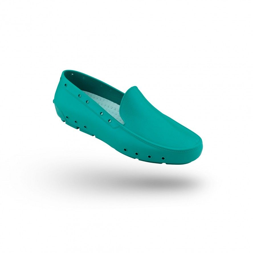 WOCK Green Moccasin Work Shoes for Woman MOC LADY 05