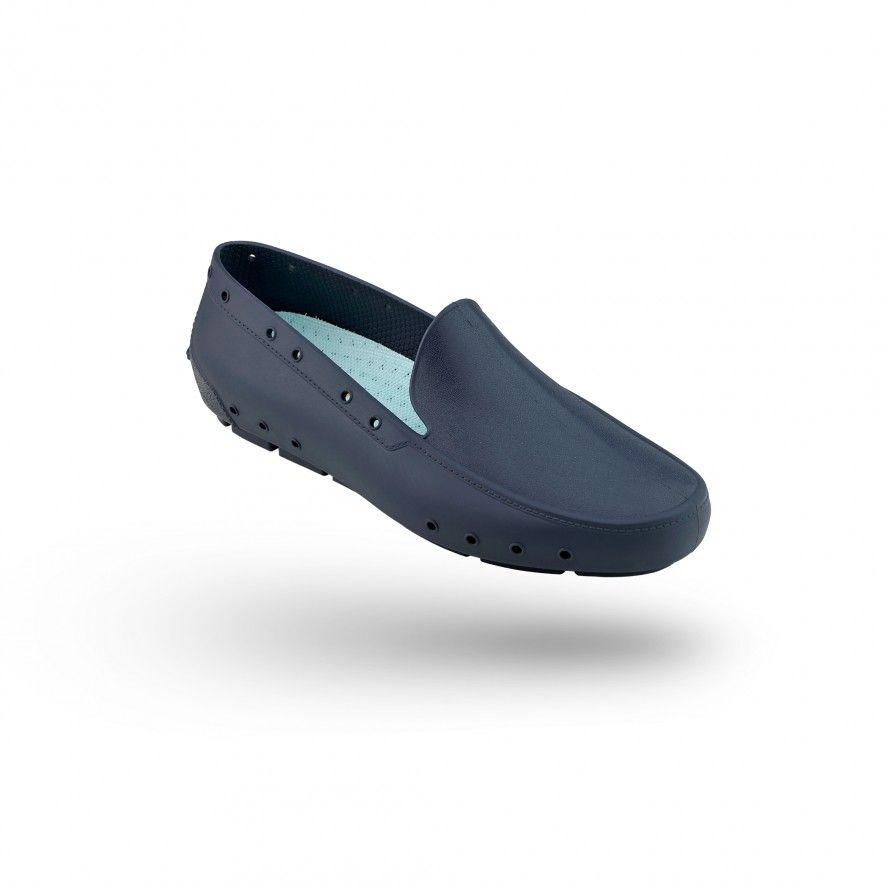 WOCK NavyBlue Moccasin Work Shoes for Woman MOC LADY 02