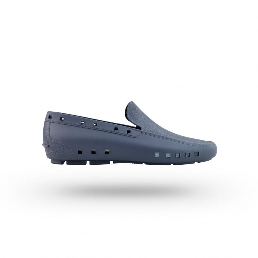 WOCK NavyBlue Moccasin Work Shoes for Man MOC MAN 03