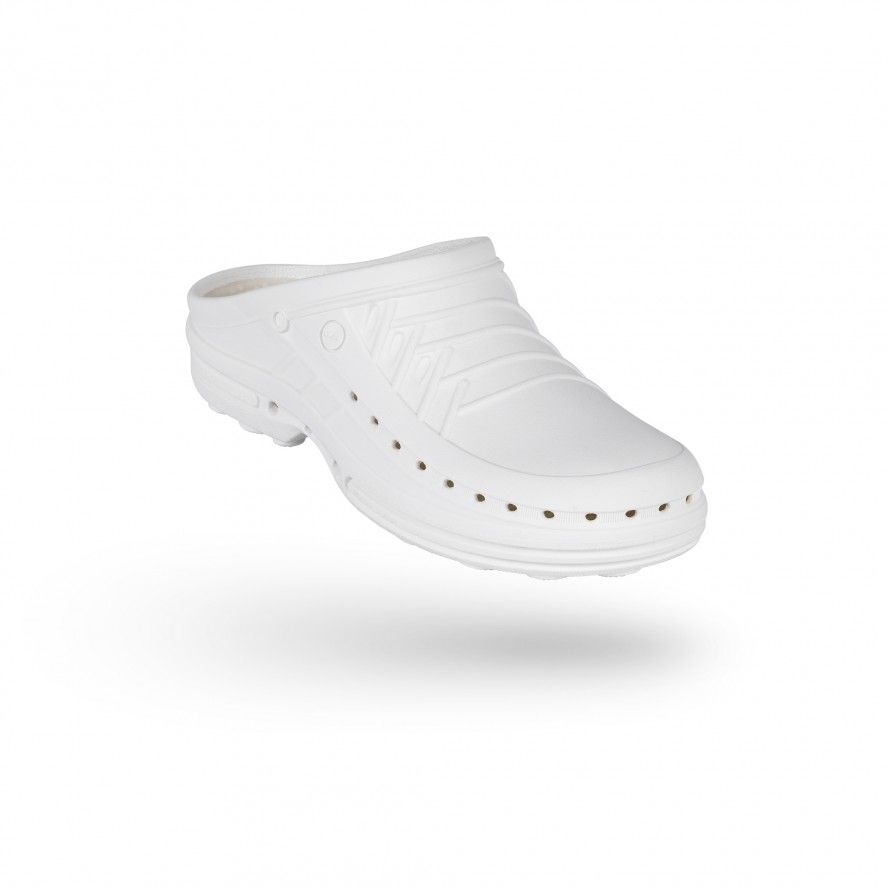WOCK White Theatre Clogs - Men and Women CLOG 10