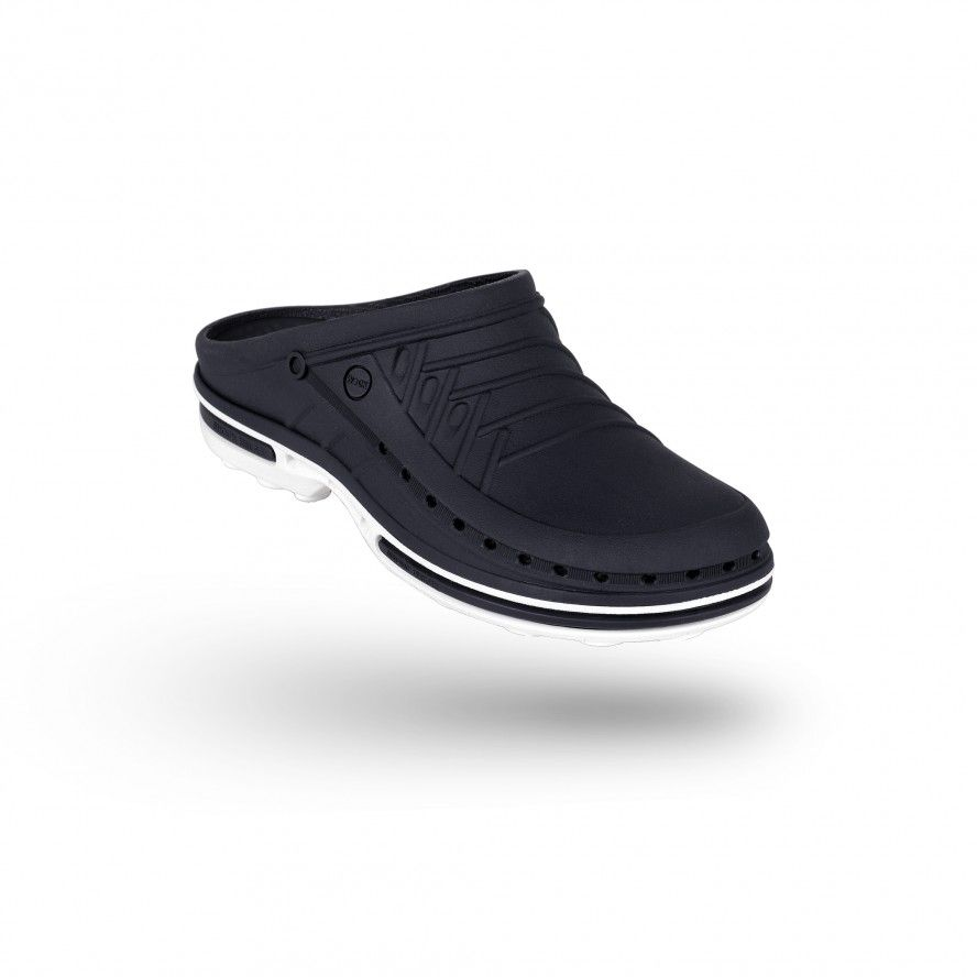 WOCK Navy Blue/White Theatre Clogs - Men and Women CLOG 03