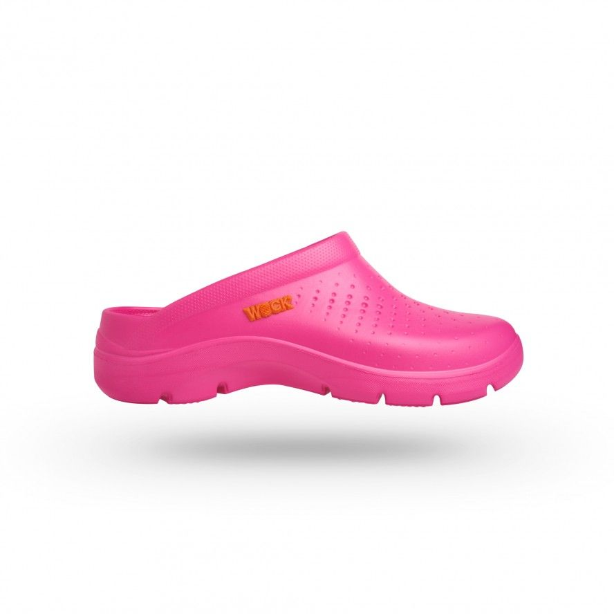 WOCK Pink Lightweight Clogs w/ Professional Performance FLOW 07