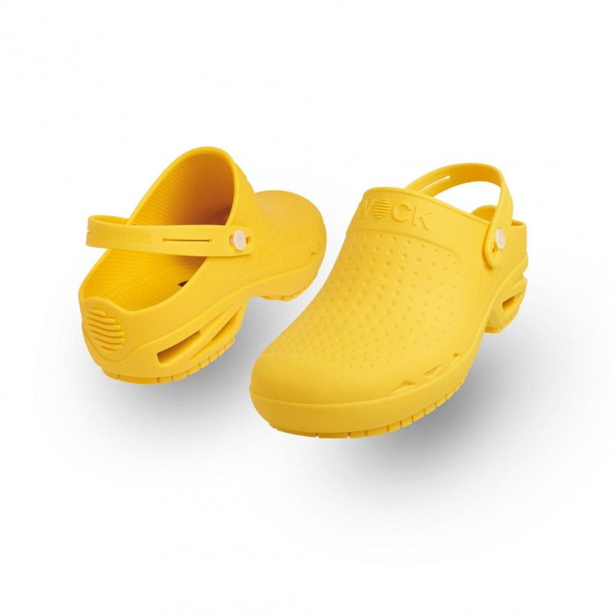 WOCK Yellow Theatre Clogs - Men & Women BLOC CLOSED 06 w/ Strap