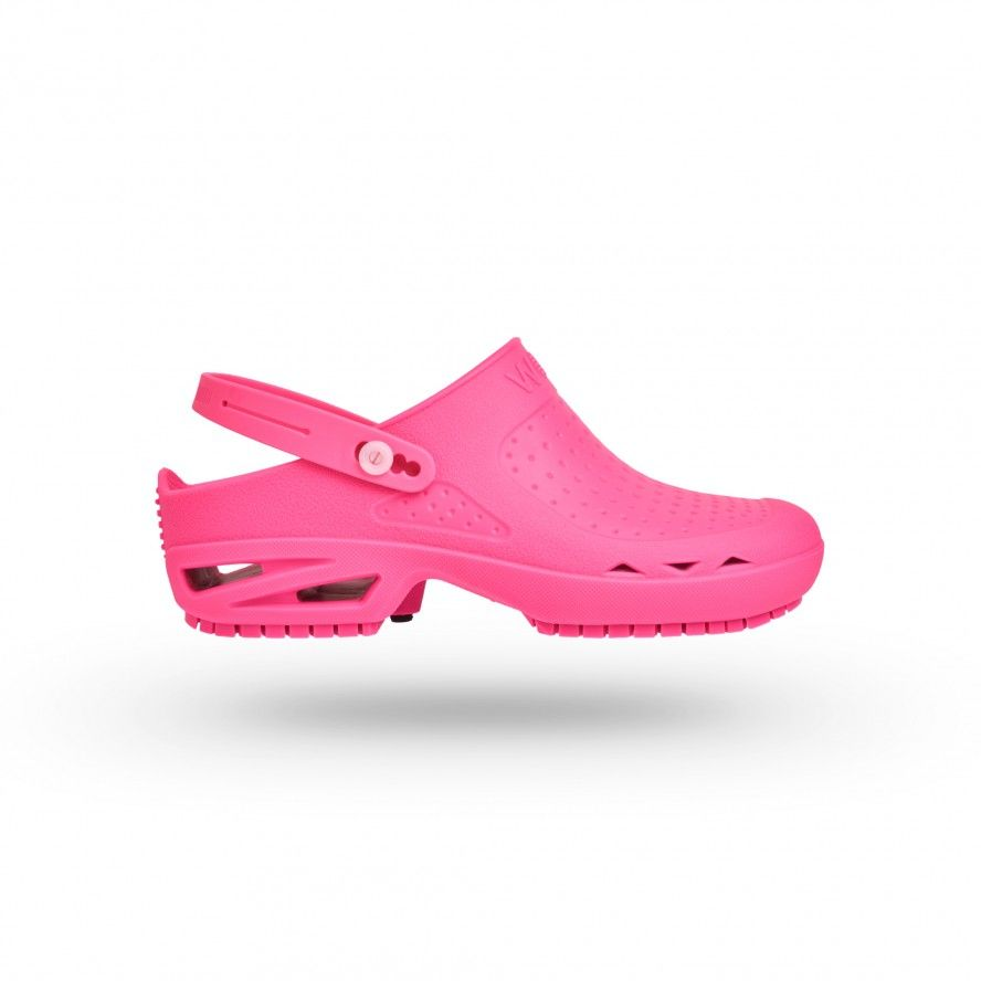 WOCK Pink Theatre Clogs - Men and Women BLOC OPEN 04 w/ Strap