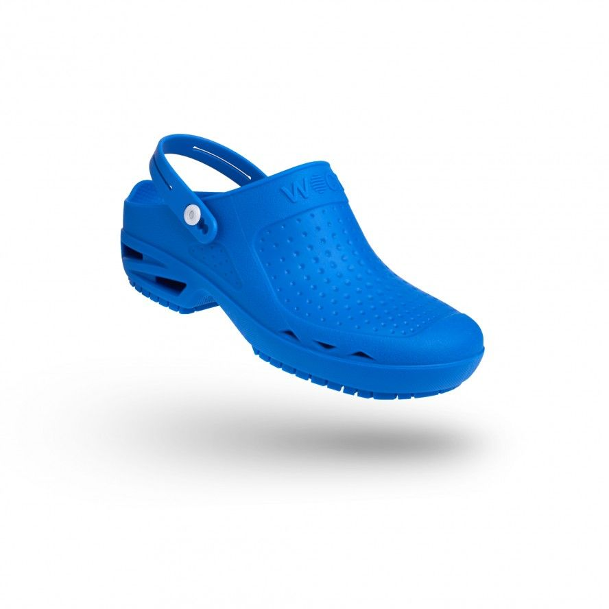 WOCK Medium Blue Theatre Clogs - Men/Women BLOC OPEN 02 w/ Strap