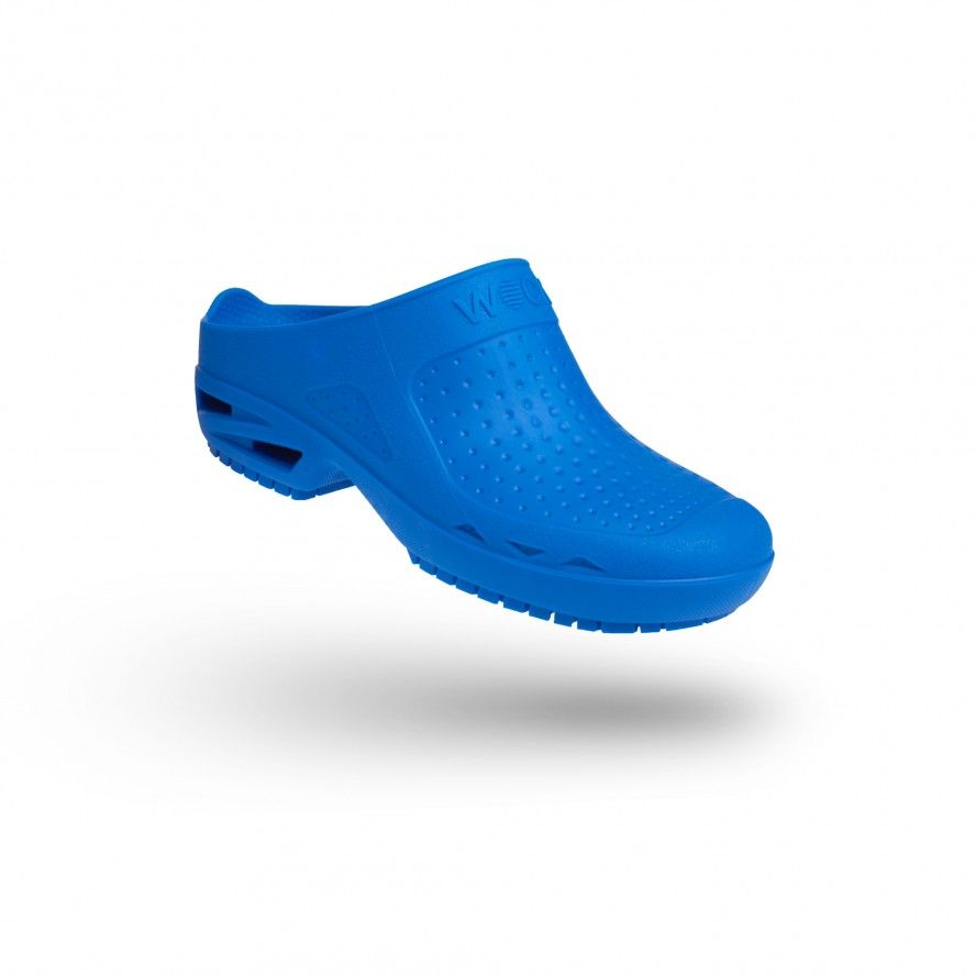 WOCK Medium Blue Theatre Clogs - Men and Women BLOC CLOSED 02