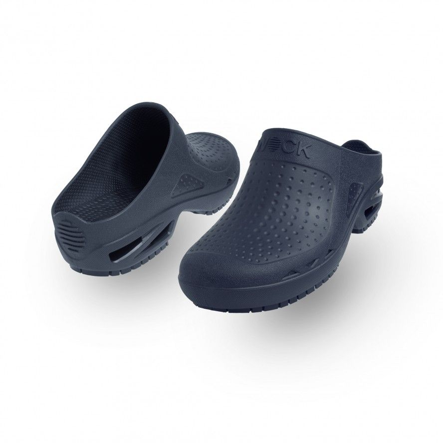 WOCK Navy Blue Theatre Clogs - Men and Women BLOC CLOSED 01