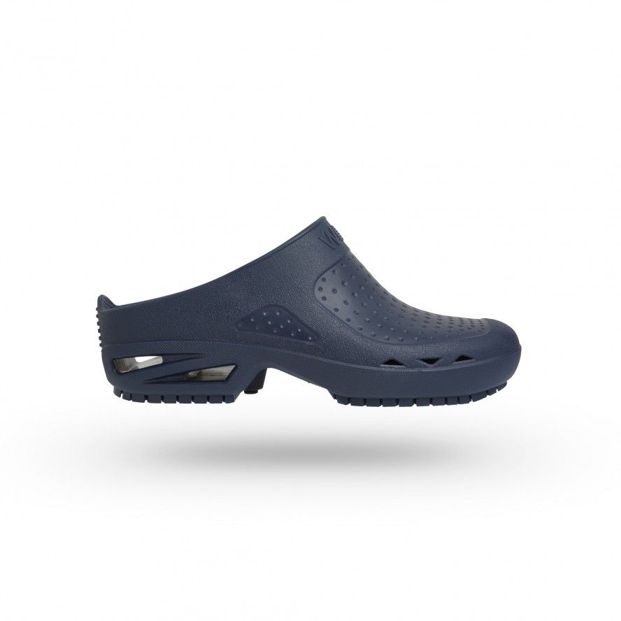 WOCK Navy Blue Theatre Clogs - Men and Women BLOC OPEN 01
