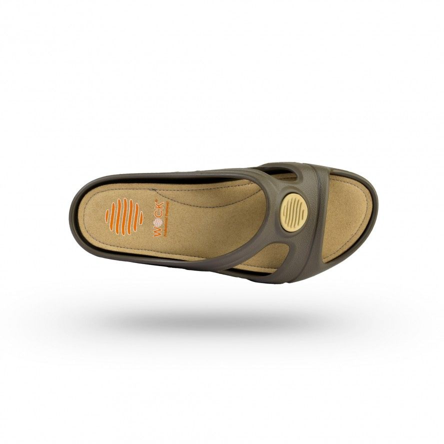 WOCK Brown Work Sandals for Beauty & Cosmetic SENSES COMFORT 01
