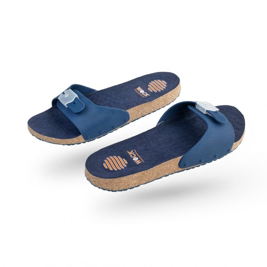WOCK Navy Blue Work Sandals for Beauty & Cosmetic SANUS 07