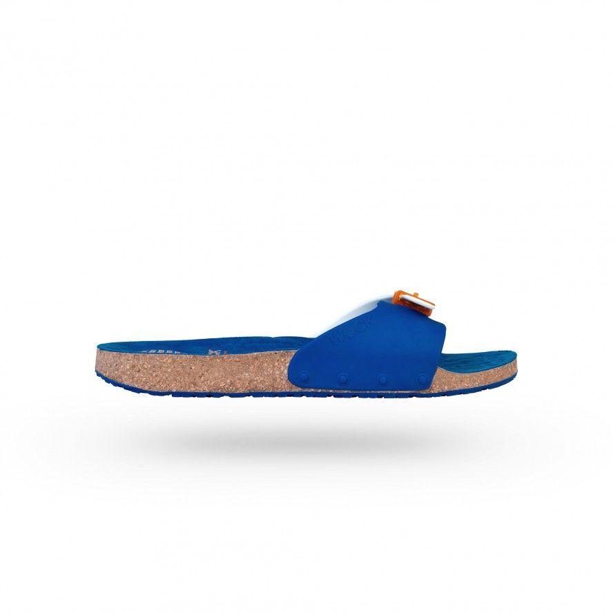 WOCK Sandália para Uniformes de Cosmética  Branca/Azul SANUS 02
