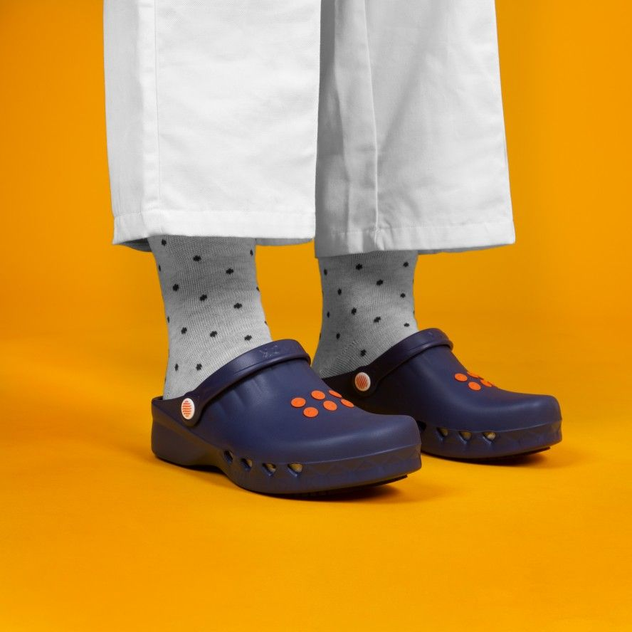 WOCK NavyBlue Non Slip Chef/Work Clogs NUBE 01