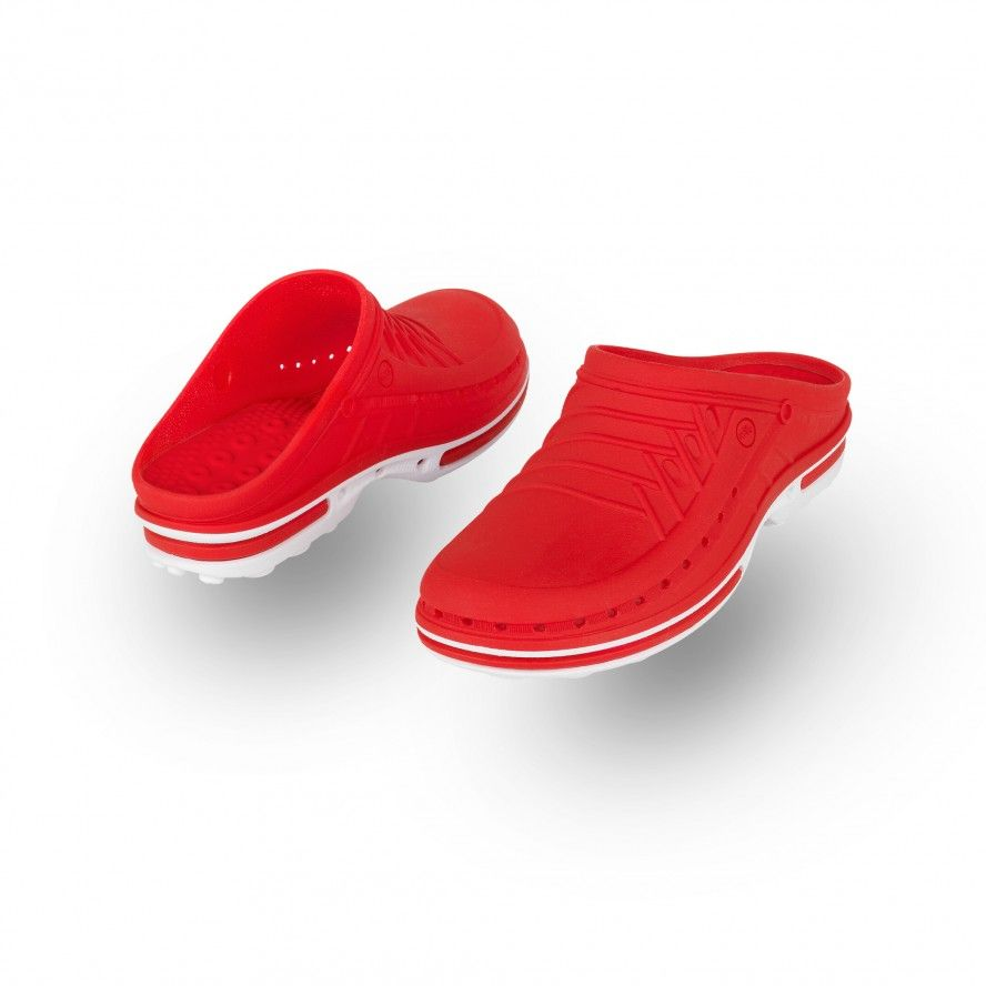 WOCK Red/White Theatre Clogs - Men and Women CLOG 17
