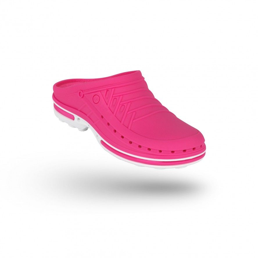 WOCK Pink/White Theatre Clogs - Men and Women CLOG 09
