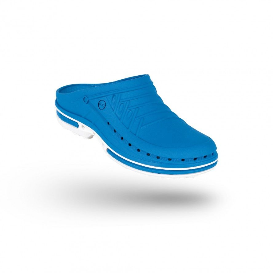 WOCK Medium Blue/White Theatre Clogs - Men and Women CLOG 07