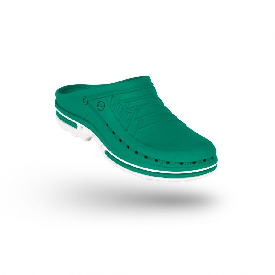 WOCK Green/White Theatre Clogs - Men and Women CLOG 06