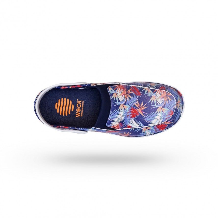 WOCK  Women Clogs w/ Tropical Flowers' Design - FEEL UNIQUE 04
