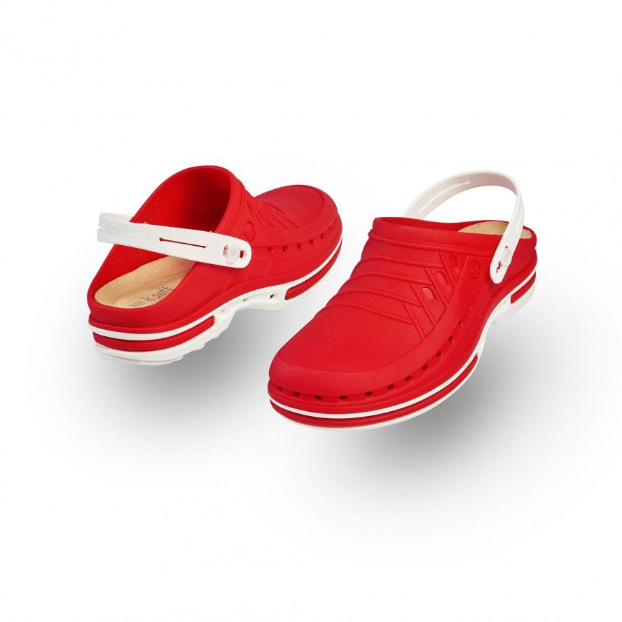 White/Red Clog