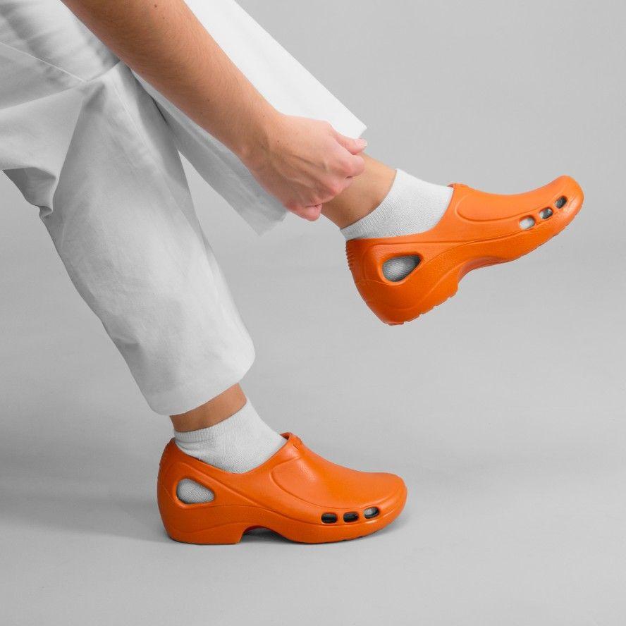 WOCK Orange Nursing/Work Shoes EVERLITE 05
