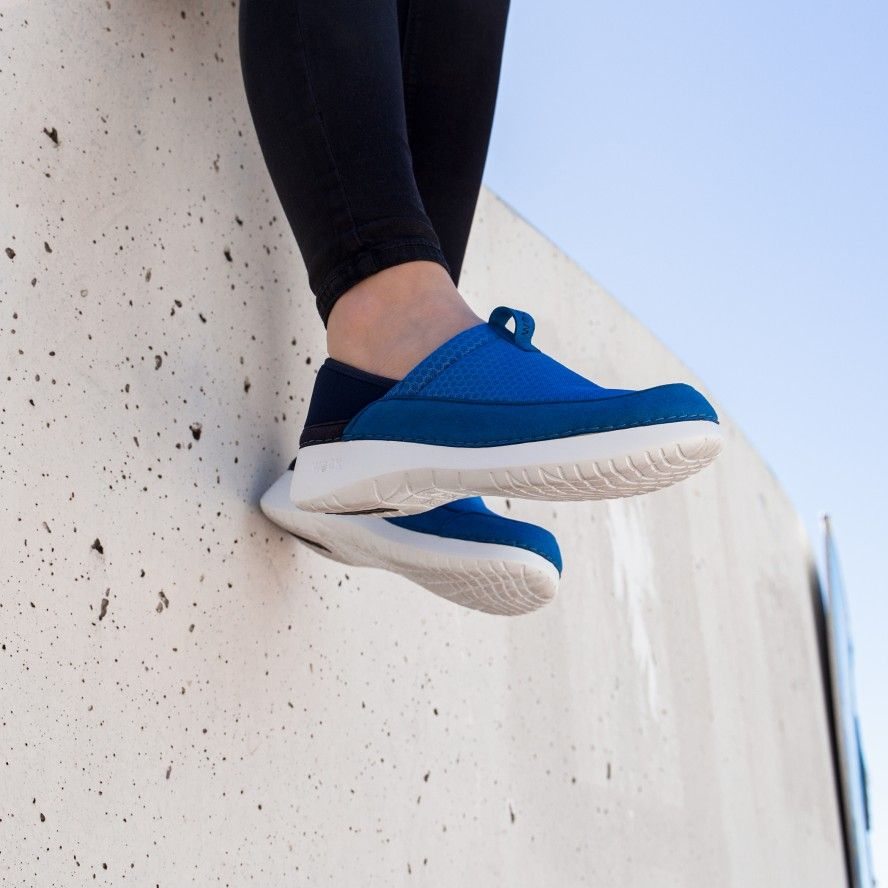 WOCK  Lightweight Medium Blue Work Sneakers - FEEL FLEX 01