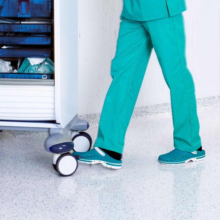 WOCK Socas Hospitalares Brancas/Verdes CLOG 06 c/ Tira