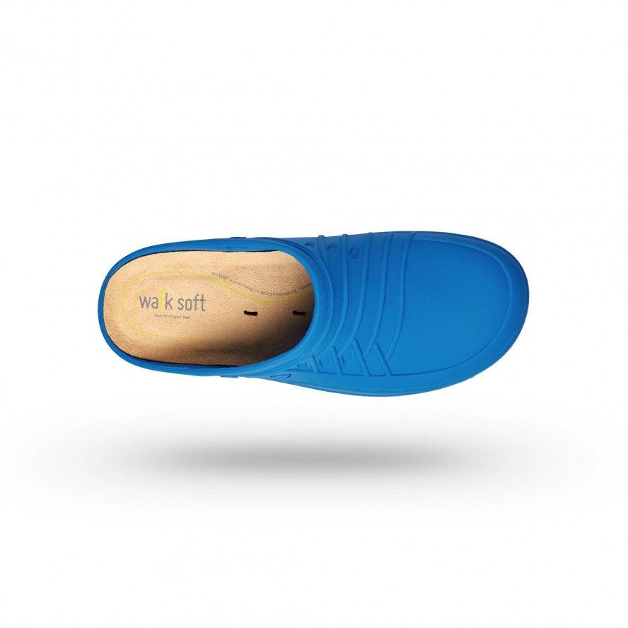 WOCK Blue/White Nursing Clogs CLOG 07 w/ Walksoft Insole