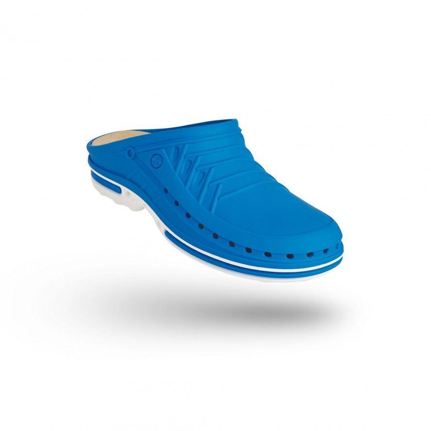 WOCK Zueco Azul y Blanco Clog 07 c/ Plantilla de Confort
