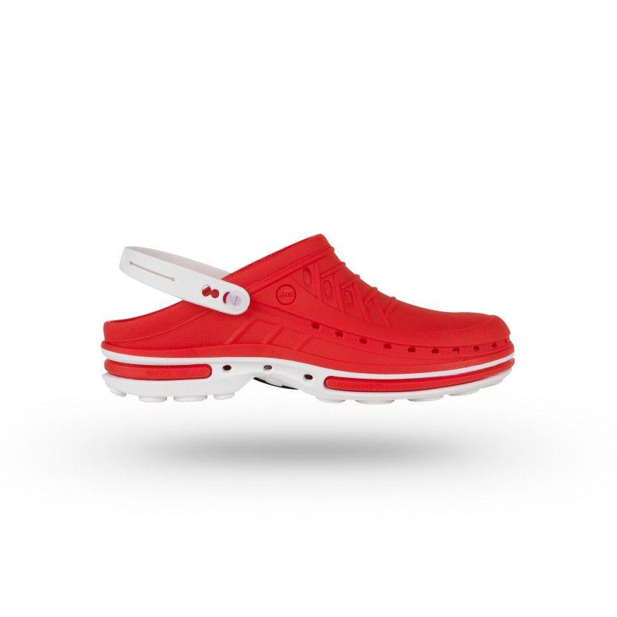 White/Red Clog