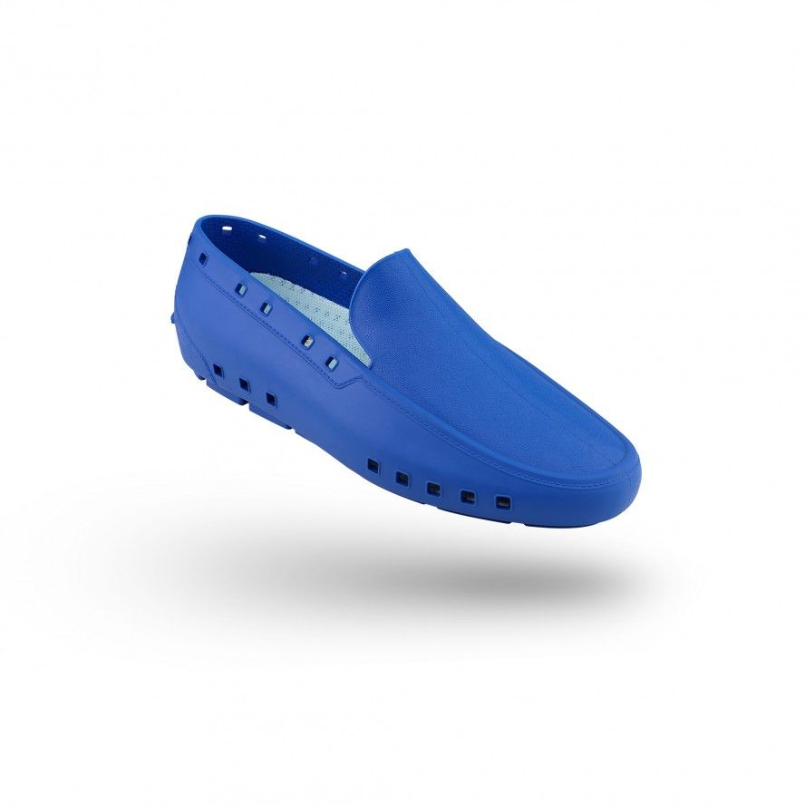 WOCK MediumBlue Moccasin Work Shoes for Man MOC MAN 04