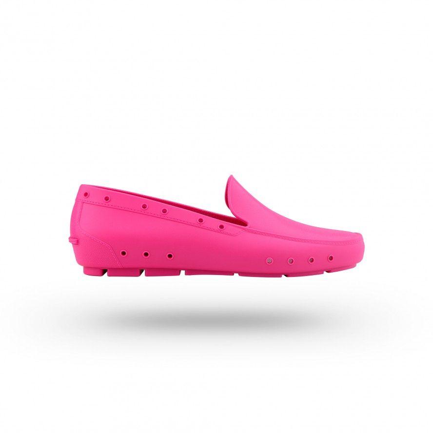 WOCK Sapatos Femininas Profissionais Mocassim Fúchsia MOC LADY 03