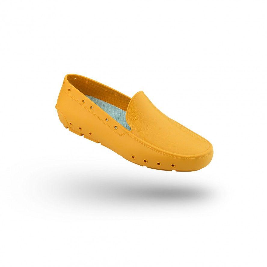 WOCK Sapato Feminino Profissional Mocassim Amarelos MOC LADY 01