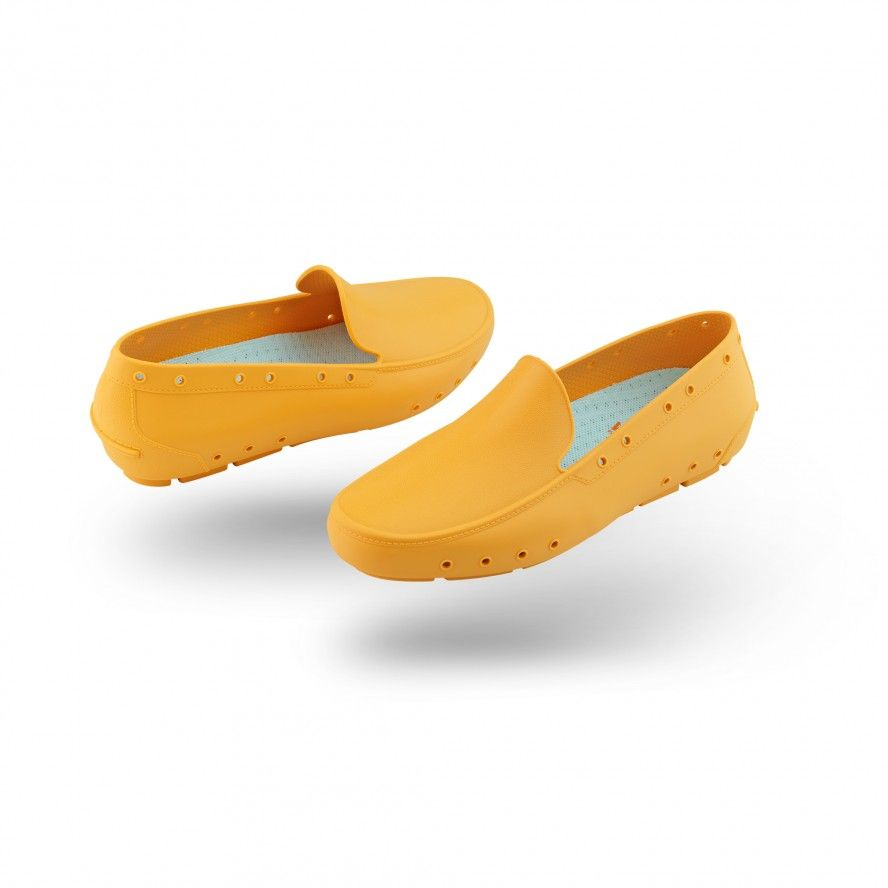 WOCK Yellow Moccasin Work Shoes for Woman MOC LADY 01