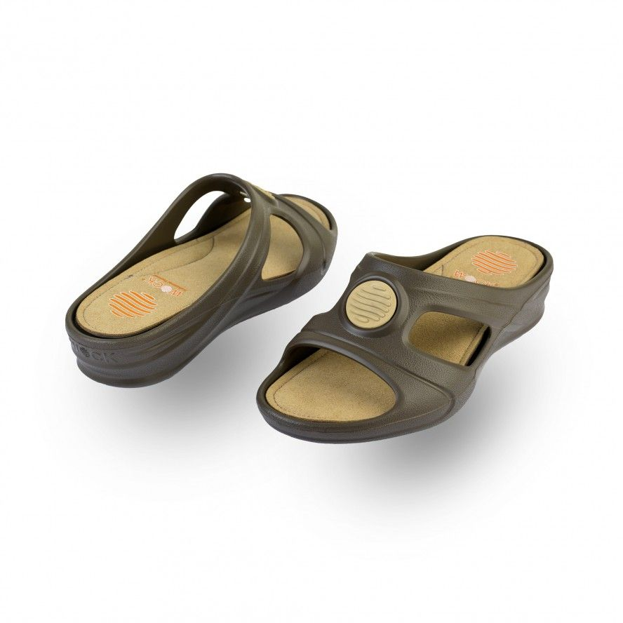 WOCK Brown Work Sandals for Beauty & Cosmetic SENSES COMFORT 01