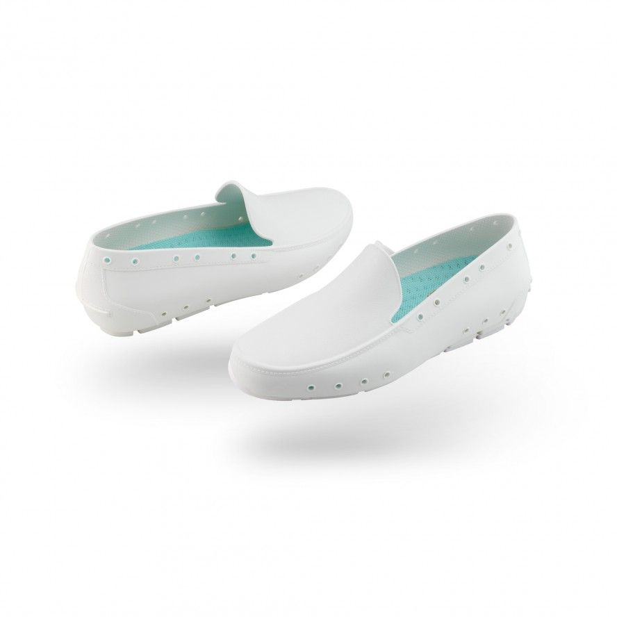 WOCK White Moccasin Work Shoes for Woman MOC LADY 06
