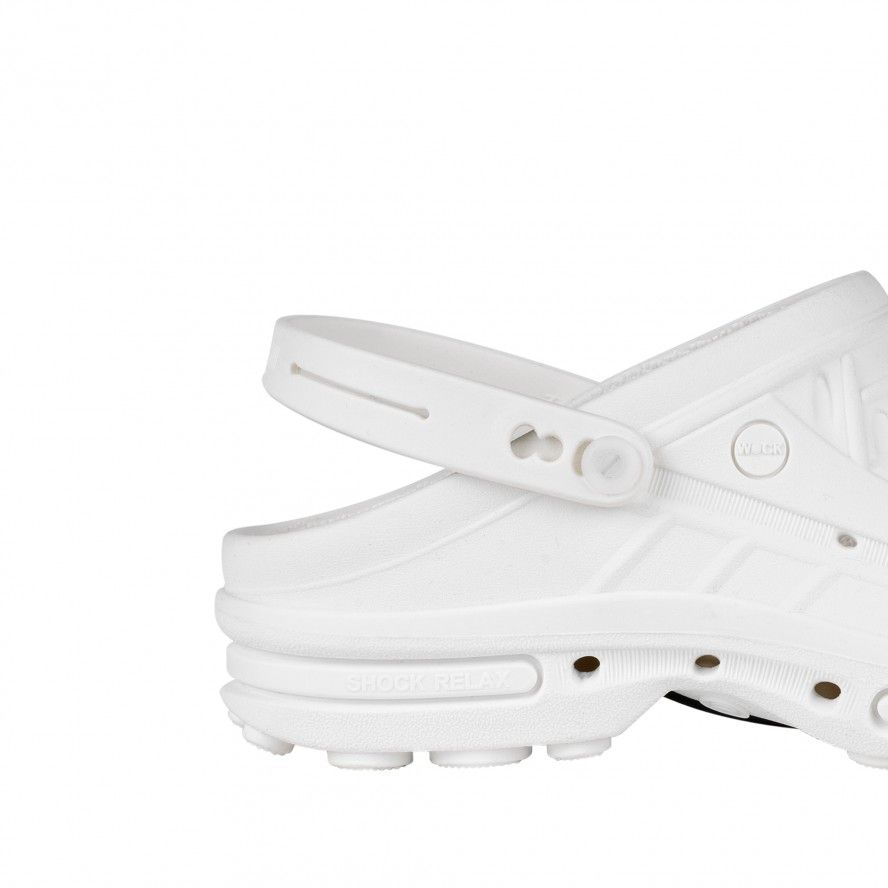 WOCK  CLOG White Strap for greater comfort and safety