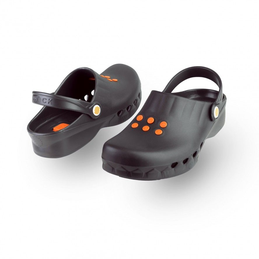 WOCK Black Non Slip Chef/Work Clogs NUBE 06