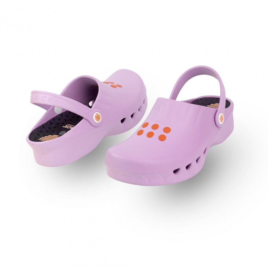 WOCK Pink Non Slip Chef/Work Clogs NUBE 03 w/ Insole