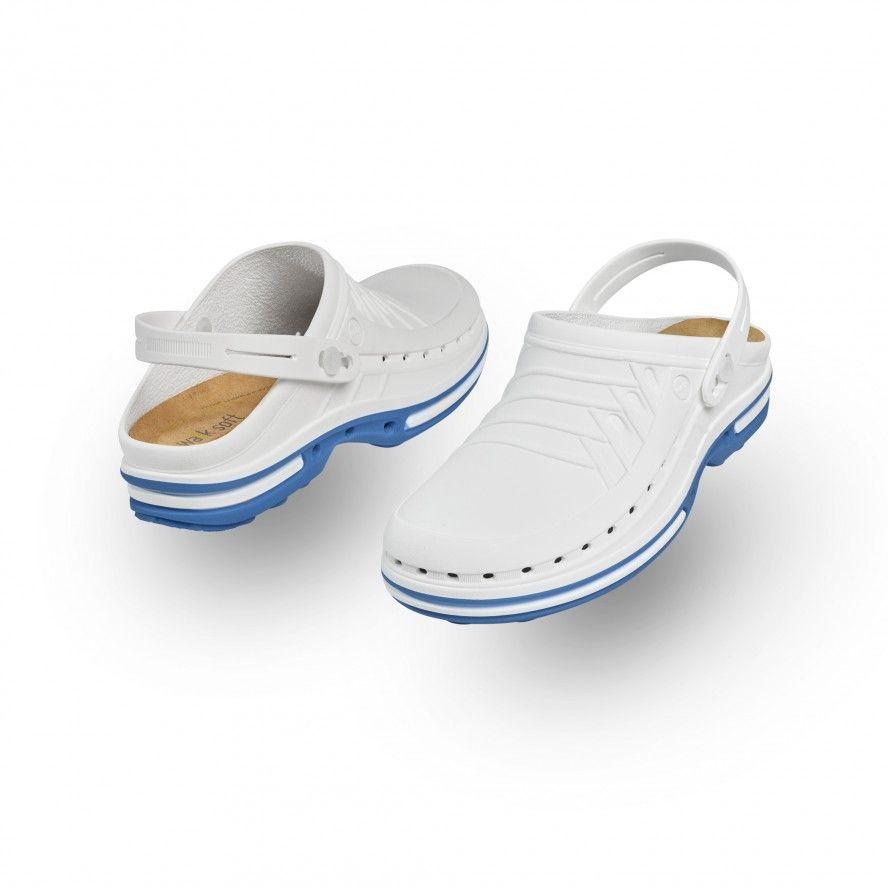 Blue/White Clog