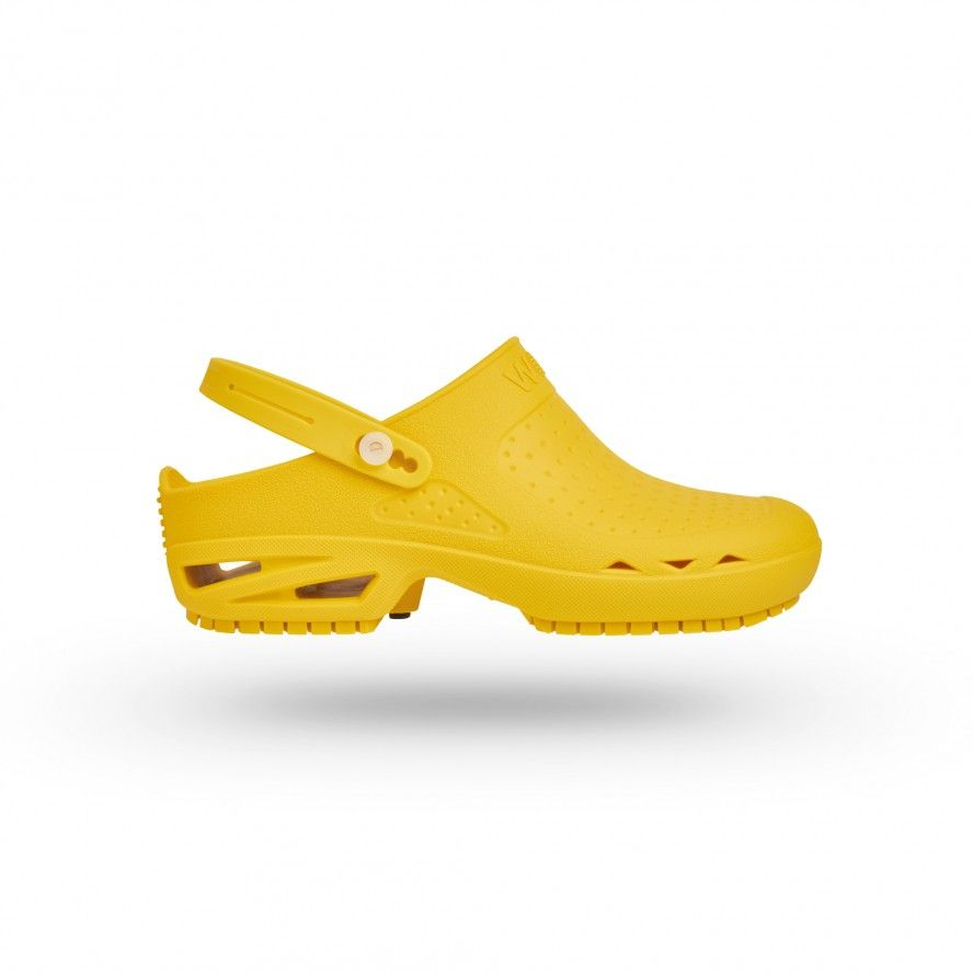 WOCK Yellow Theatre Clogs - Men and Women BLOC OPEN 06 w/ Strap