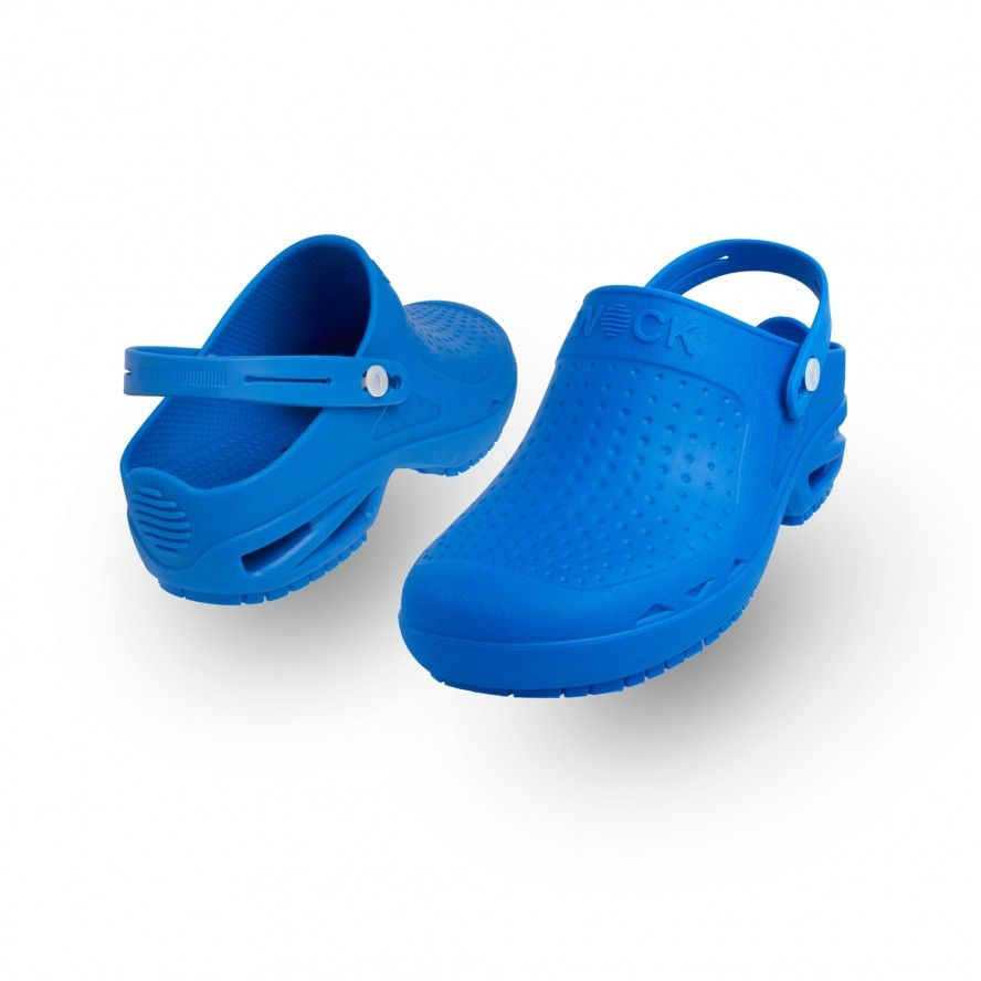 WOCK Medium Blue Theatre Clogs BLOC CLOSED 02 w/ Strap