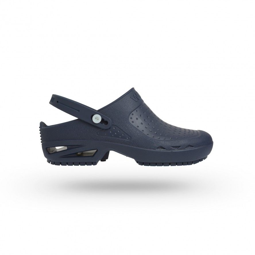 WOCK Navy Blue Theatre Clogs BLOC CLOSED 01 w/ Strap