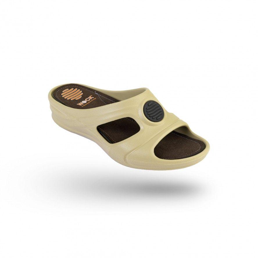 WOCK Beige Work Sandals for Beauty & Cosmetic SENSES COMFORT 02