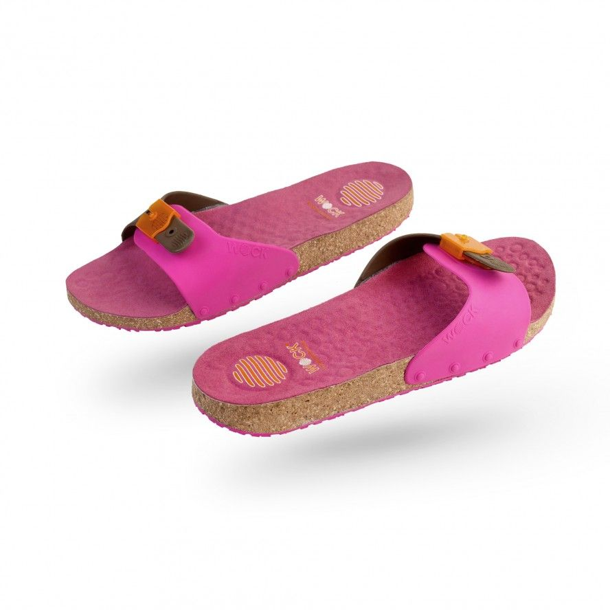 WOCK Pink Work Sandals for Beauty & Cosmetic SANUS 01